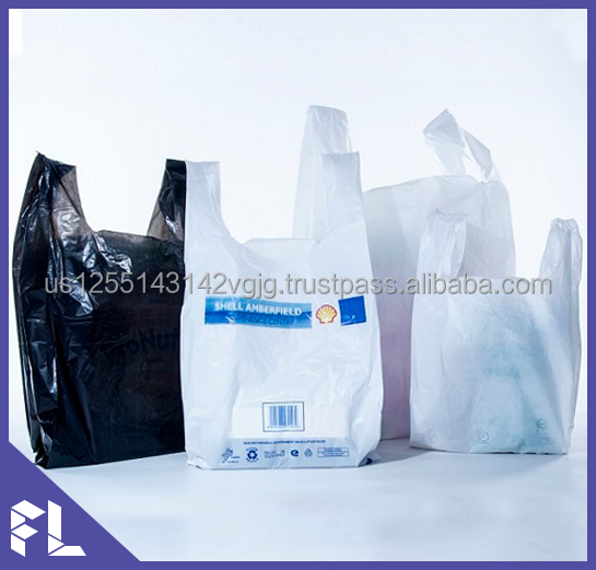 HDPE/LDPE Custom Printed T-shirt Plastic Bag