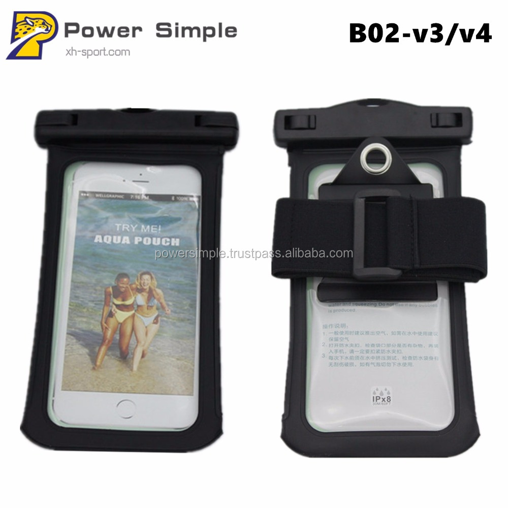 Waterproof Mobile Phone Bag with Hook and Armband for iPhone 4.7 5.5 Inches