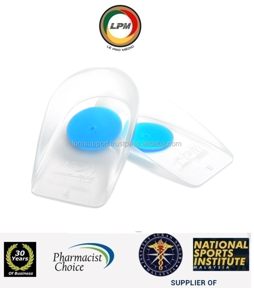 LPM(Pharmacist,National Sports) Silicon Heel Insole Pad Arch Cushions Brace Support
