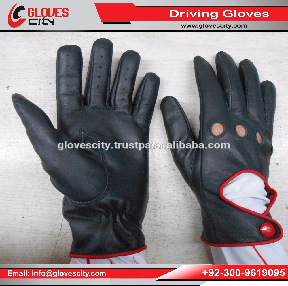 Real Goat Leather Car Driving Gloves