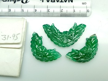 Natural green onyx three piece set
