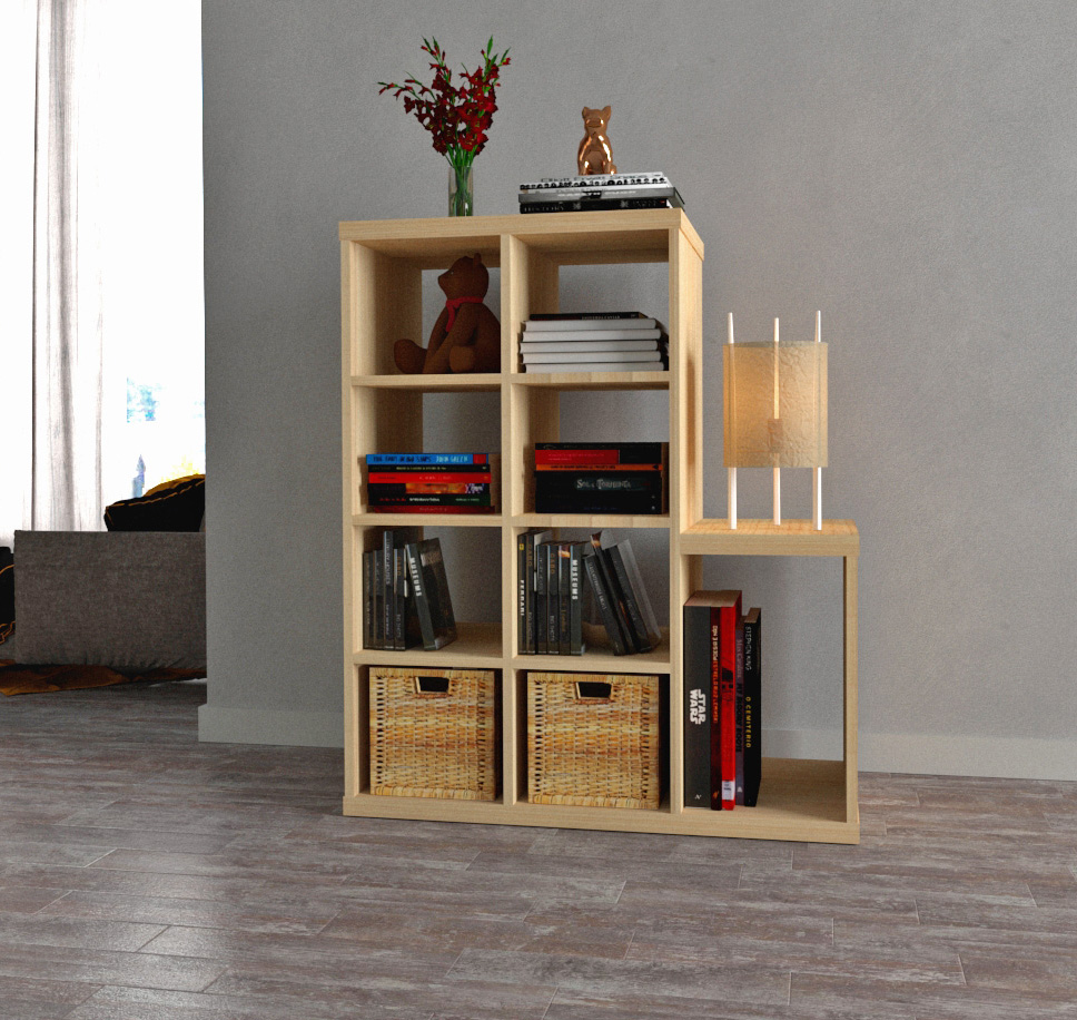 Standing Bookshelf with minimalist design