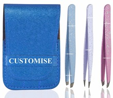 Crystal diamond stainless metal eyebrow tweezers manufacture