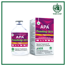 APA Penstrep 20 S | Special veterinary medicine produced by APA veterinary pharmaceutical compeny with penicillin injection.