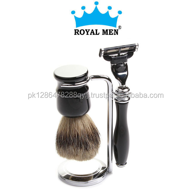 Royal Men catridge razor for men shaving gift set, catridge razor kit with badger shaving brush