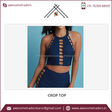 2017 100% Organic Cotton High Qualitycrop Tops For Women