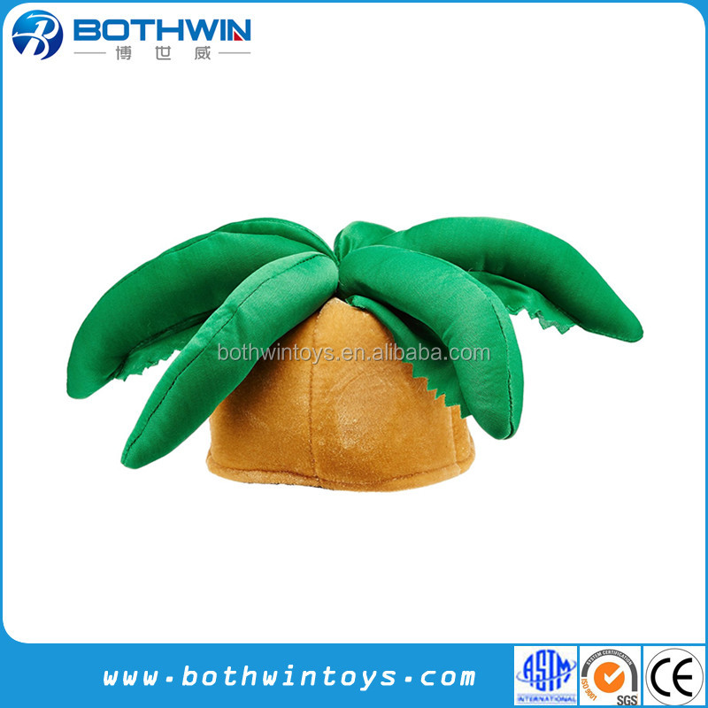 Plush Palm Tree Hat Party Accessory Toy