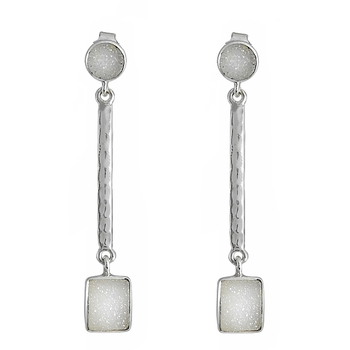 Natural gemstone earrings wholesale sterling silver jewelry 925 silver earrings suppliers