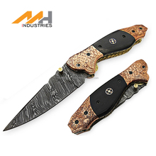 2017 Hot sale Handmade liner lock Damascus Folding Knife in Pakistan