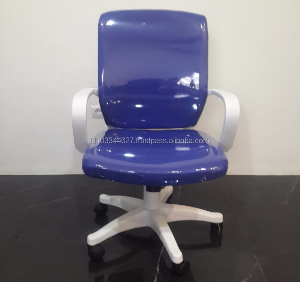 Low Back Cheap Swivel White Office Chair Nylon Base Hydraulic Chair