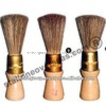 India White and Black Cow [Hog] Tail Hair and Horse Neck Hair with a Layer of White Pure Chinese Boiled Bristles Shaving Brush