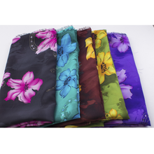 100% Polyester Chiffon Printed Fabric With Sequin