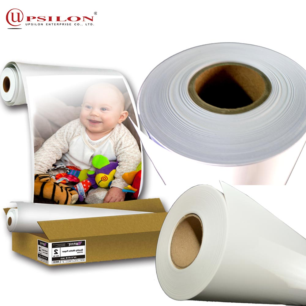 Wide Inkjet Rolls Matte Hiti Photo Paper For 128 Gsm 44inch