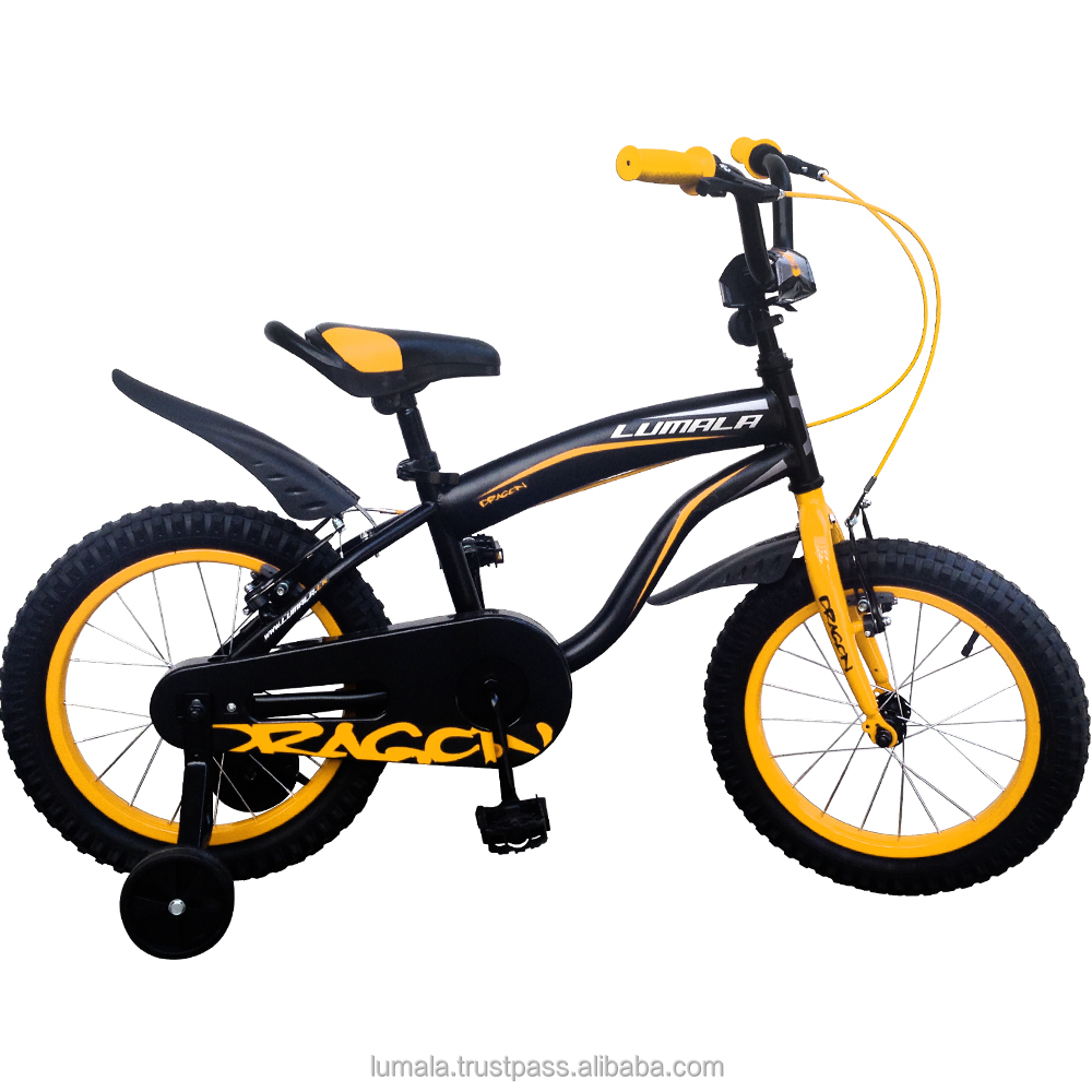 "16"" Childrens BMX Bicycle with Training Wheels and front Bucket Lumala Dragon"