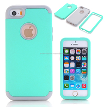 3-in-1 Impact Cover Hard&Soft Silicone Hybrid Case Universal for Apple iPhone 5/5S/5C/SE Armor Phone Cases+Screen Protector Film