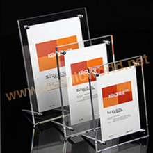 Standard L display frame acrylic sign holder stands durable clear acrylic counter A4 menu stand