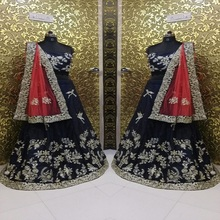 latest black lehenga