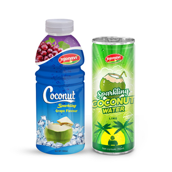 Sparkling Coconut Water With Fruit juice JOJONAVI brand OEM private label