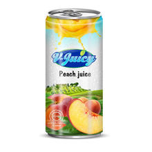OEM Fresh 240ml peach juice with pulp