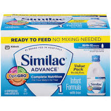 100% AUTHENTIC Similac A d v a n c e .R.e.a.d.y.-To-Feed Infant Formula - 8 pack, 32 oz bottle