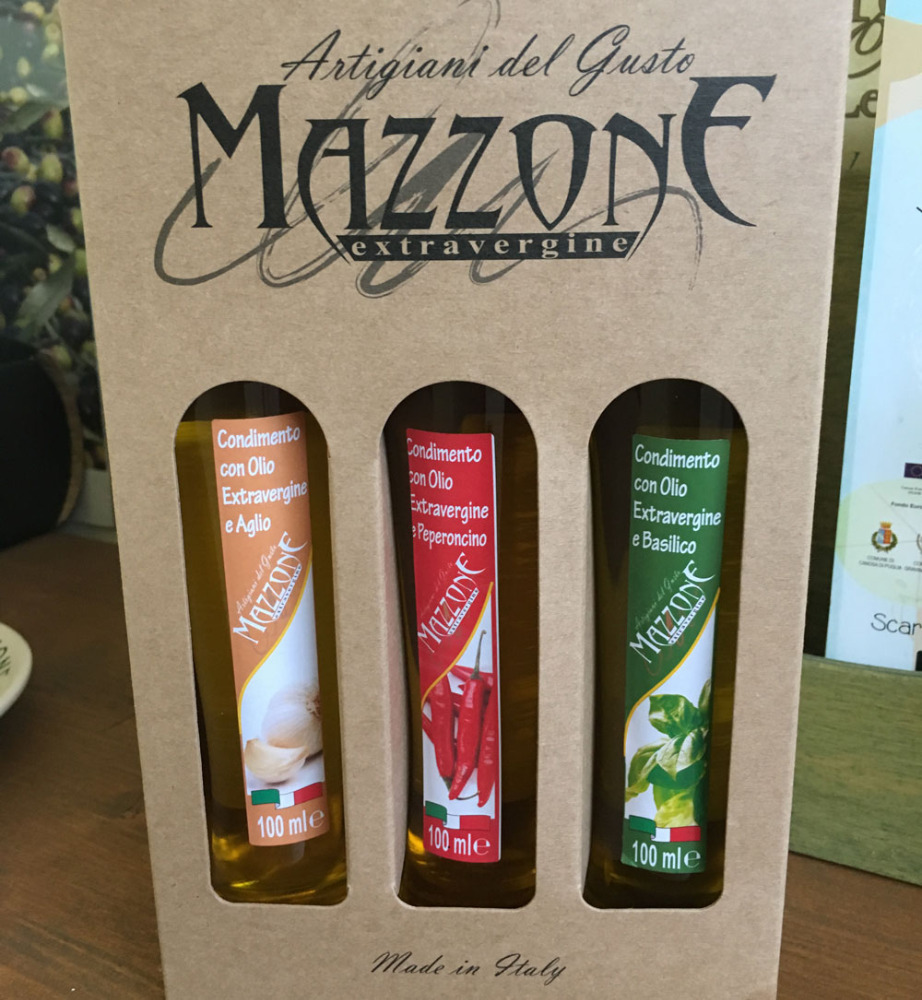 Italian Mignon Flavoured Extra Virgin Olive Oil - 100 ml per bottle - box with 3 bottles