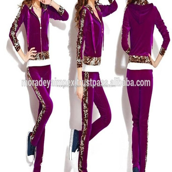 Purple Color Track Suit Girls Track Suit Long Sleeve Women's Faction Track Suit