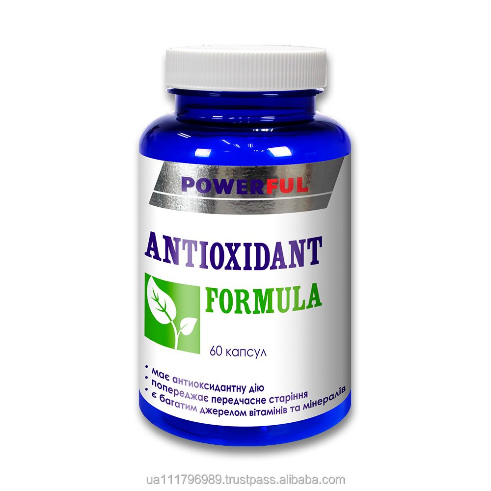 Antioxidant, body protection dietary supplement ANTIOXIDANT FORMULA in capsules
