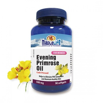 CANADA GMP MANUFATURER 90 SOFTGELS 500 MG EVENING PRIMROSE OIL CAPSULE