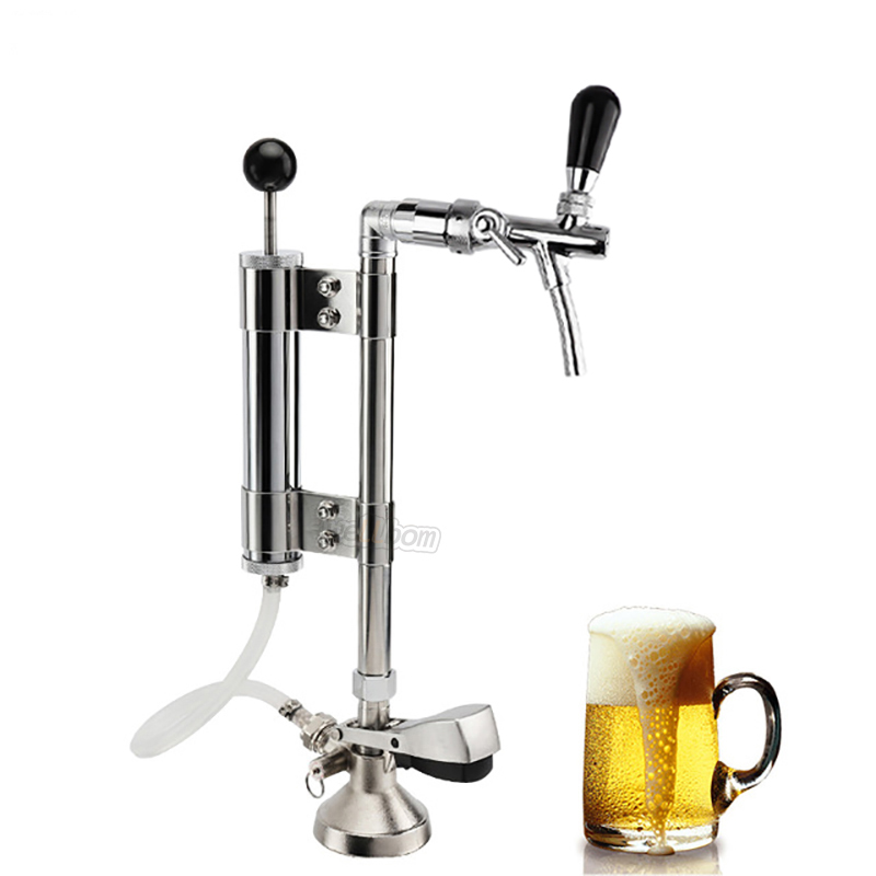 Keg Party Beer Pumps Heavy Duty Draft Adjustable Beer Picnic Party Pump Keg Tap Upright Convertor with Tall Metal Pump Assembli