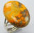 925 Sterling Silver ring size 7 US with smooth Natural bumble bee jasper