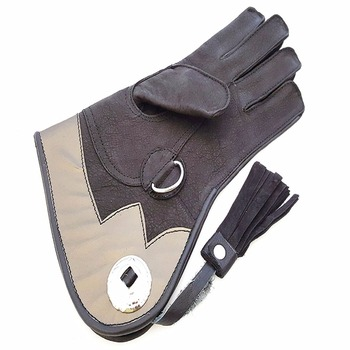 High Quality Double Layer Soft Leather Falconry Kids Gloves/ Bird Handling Kids Gloves/ Pet Kids Gloves.
