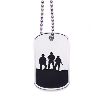 Factory custom stainless steel army metal dog tag/dogtag