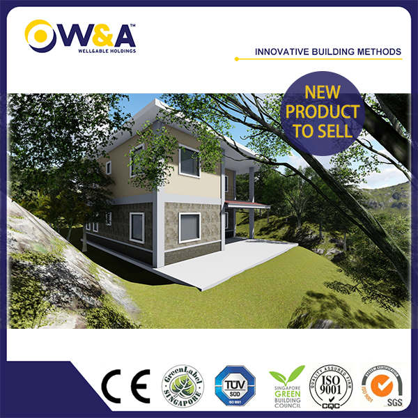 (WAS2506-72S)Cheap Modular Design Light Gauge Steel Prefab Concrete House with 3 Bedroom For Sales