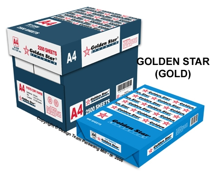 GOLDEN STAR A4 WHITE PHOTOCOPY PAPER 80GSM