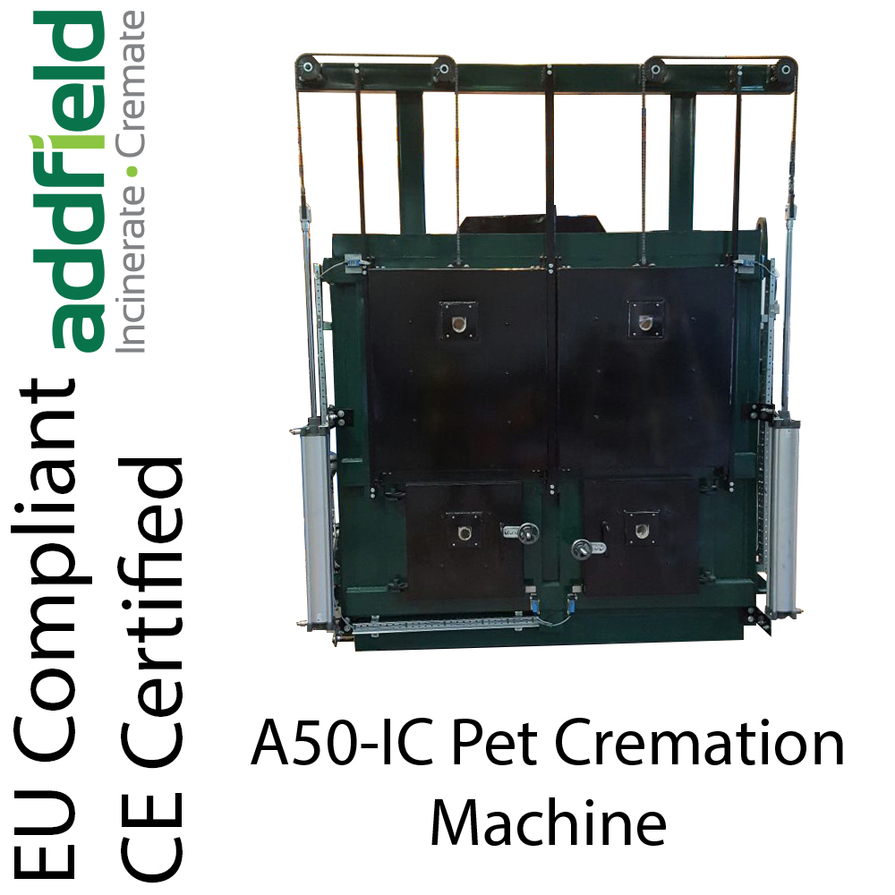 A50-IC Pet/Animal cremator, incinerator. For use in pet cremation. Maximum fuel efficiency and strength
