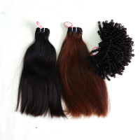 Virgin Human Hair Extensions For Making Wigs, Lace Front Closure