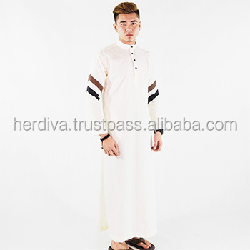 Plus Size Men jubah Mens Clothing Wholesale OEM ODM XXS-15XXL Ethnic Jubah design Latest Malaysia style 2018 Long Sleeve