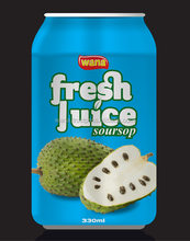 Vietnam Soursop Juice Factory With OEM Manufacturer in Can 330ml