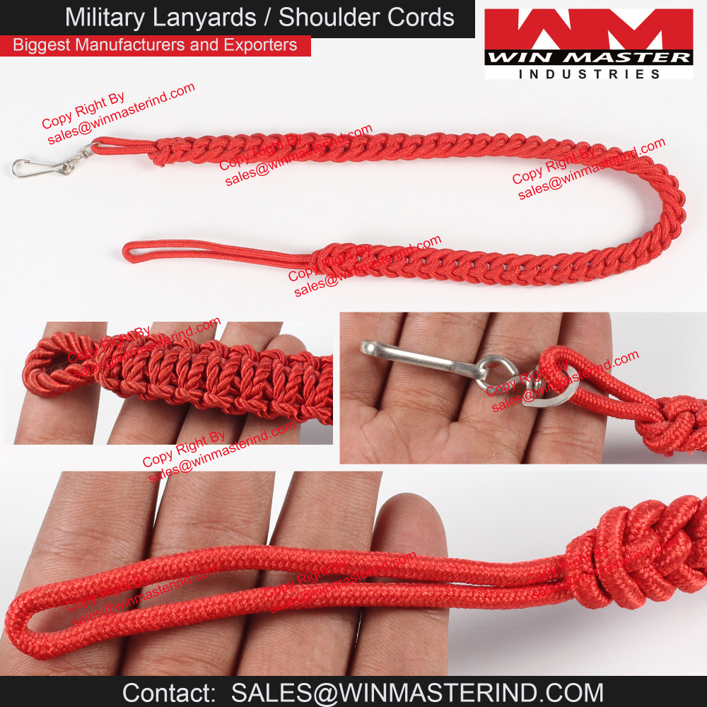 IDF israel defense forces Aiguillette Cord red military Soldier army men lanyard