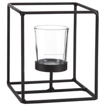 Cubic Metal Tealight Candle Holder
