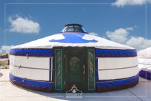 Triple layered wooden framed Mongolian Carved Yurt
