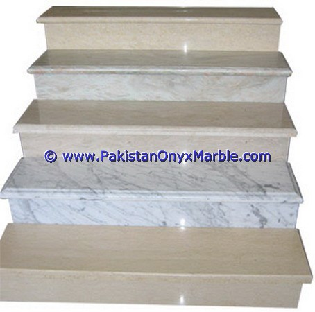 LUXURIOUS DECORATIVE MARBLE STAIRS STEPS RISERS TEAKWOOD BURMATEAK,BEIGE,BLACK AND GOLD MODERN DESIGN HOME OFFICE DECOR