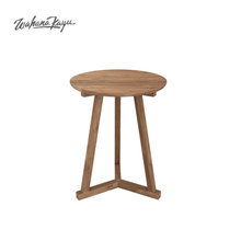 Special simple Style Wooden Round Y Tripod Side Table for your living room