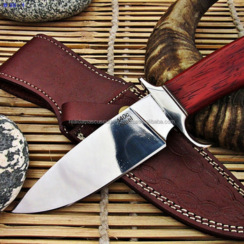 Custom Made 440c Stainless Steel Hunting Knife With Padauk Wood Handle