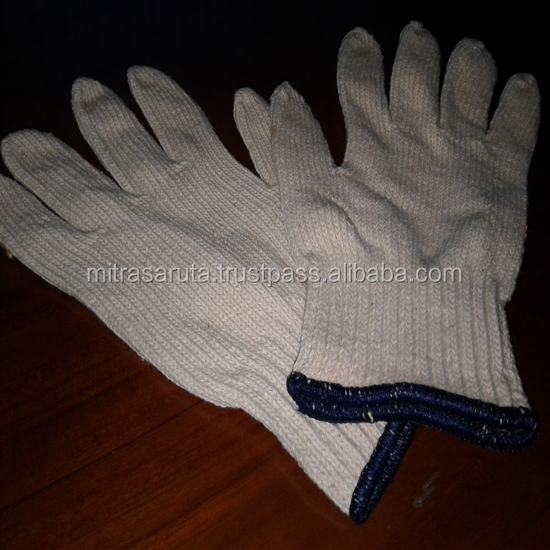 Cotton Working Gloves in Natural Color