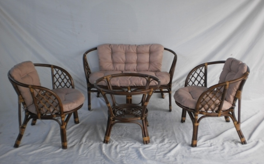 Natural Rattan Terrace Set Bahama