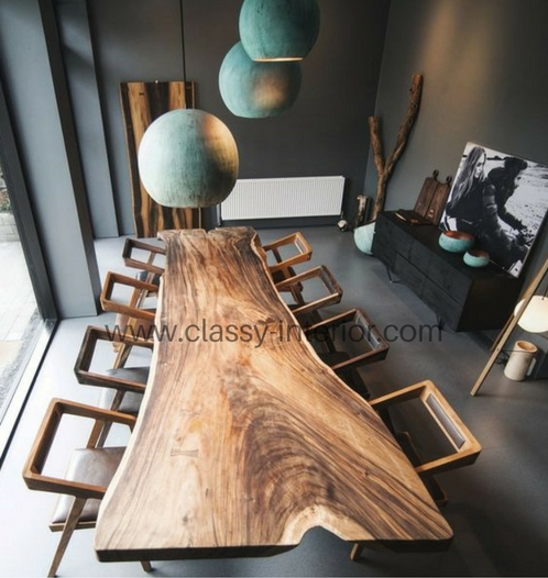 suar wooden dining table