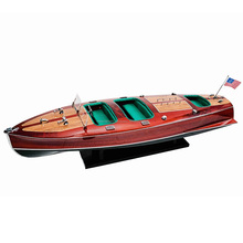 CHRIS CRAFT TRIPLE COCKPIT SPEED BOAT MODEL/VIETNAM HANDMADE WOOD CRUISE SHIP MODEL FOR HOME DECORATION