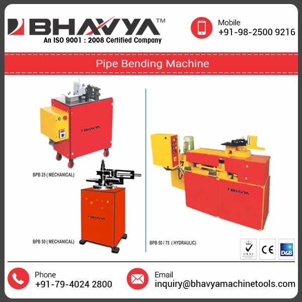 Light Duty / Heavy Duty Mechanical/Hydraulic Operated Pipe Bending Machines
