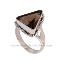 Magnificent Smokey Handmade Sterling Silver Ring
